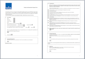 WBS Project Proposal Form