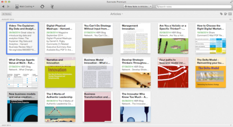 Storing articles in Evernote