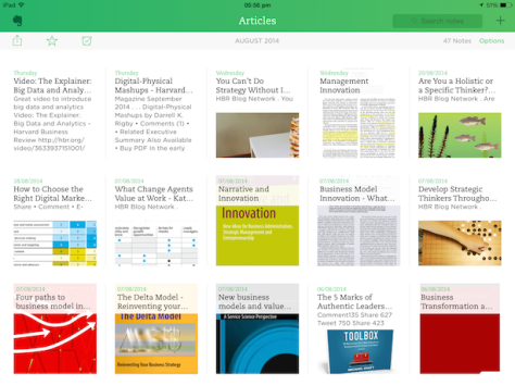 Evernote on the iPad